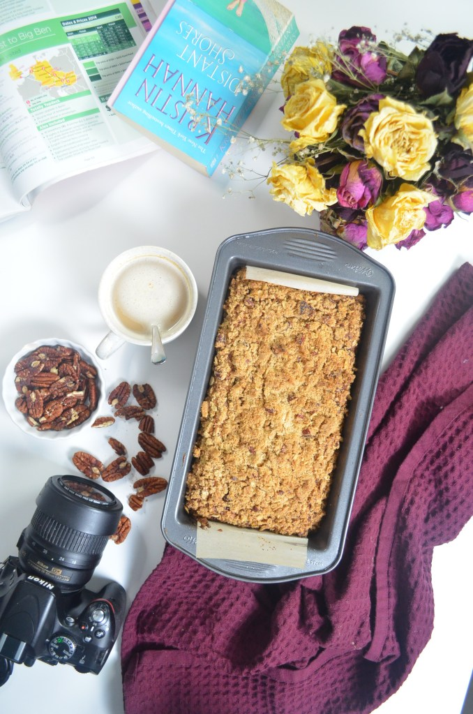 Chocolate Chip Banana Bread with Walnut Crumble