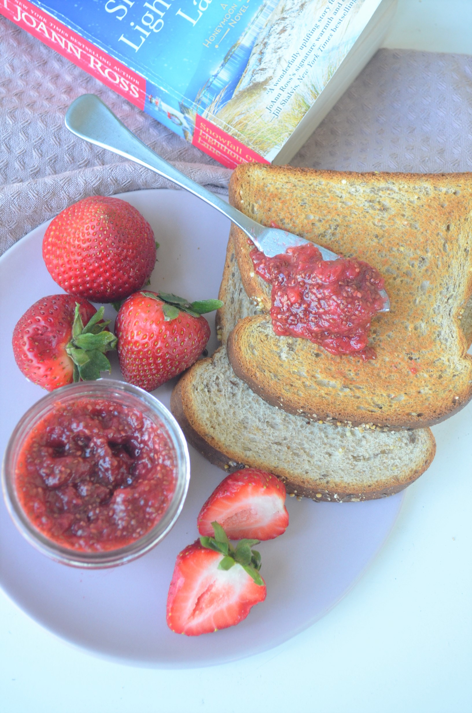Easy Strawberry Chia Seed Jam By SweetNSpicyLiving
