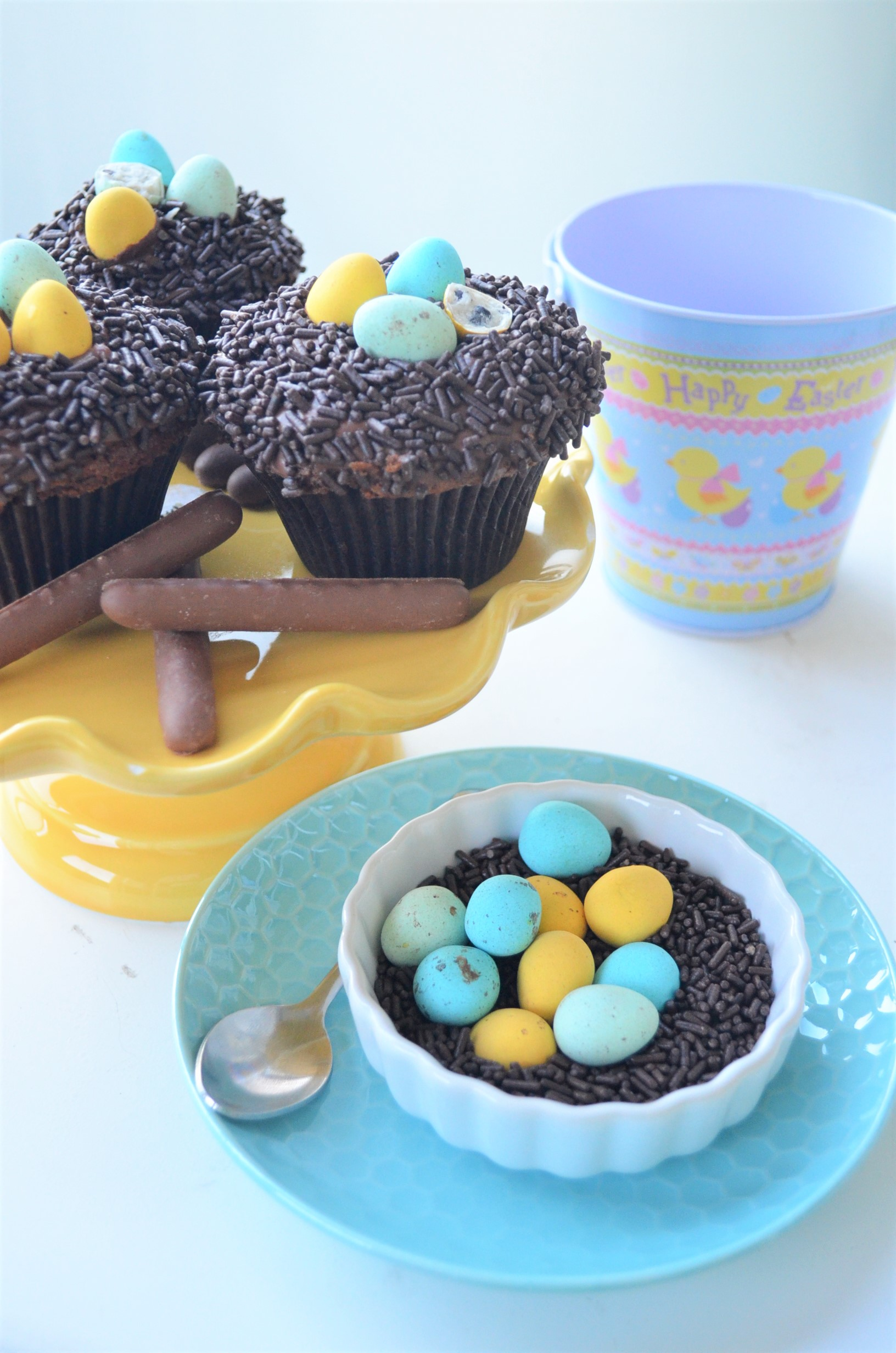 Egg Nest Chocolate Cupcakes