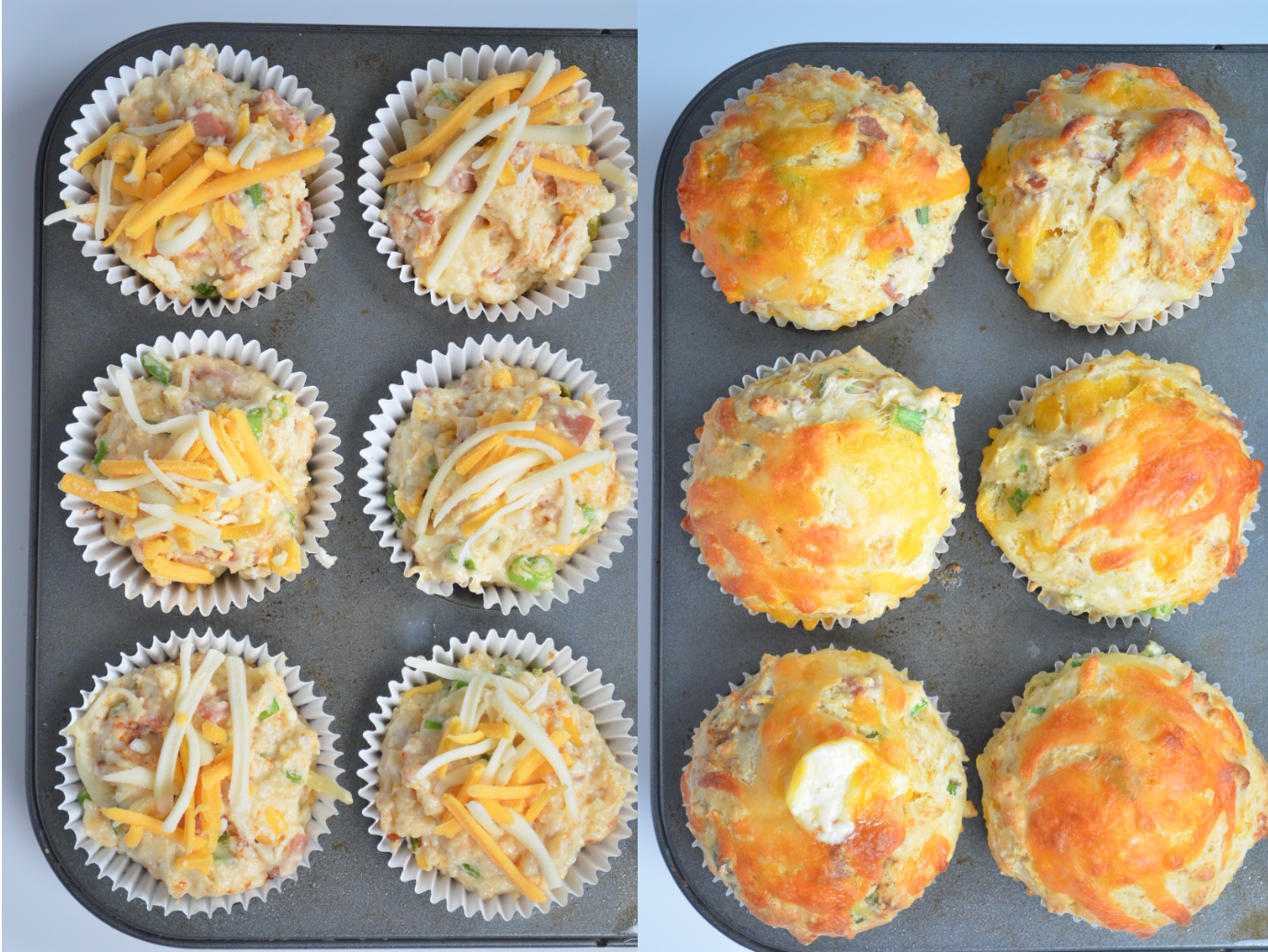 Ham and Cheese Muffin Collage