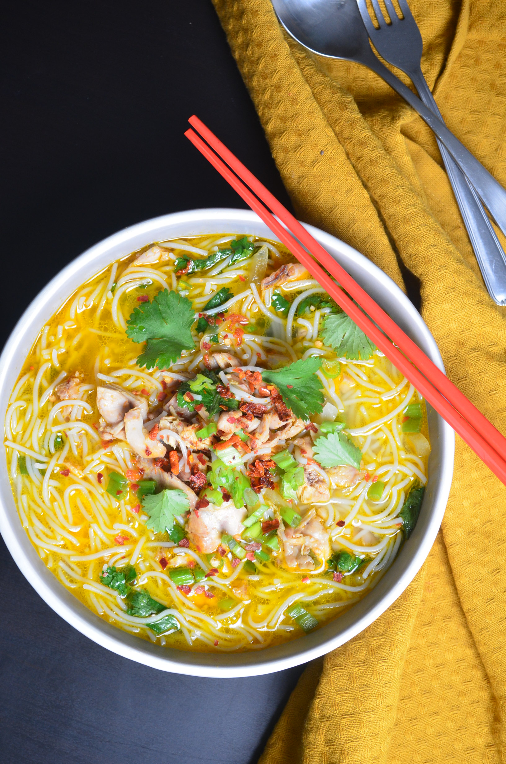 Homemade Chicken Vermicelli Soup