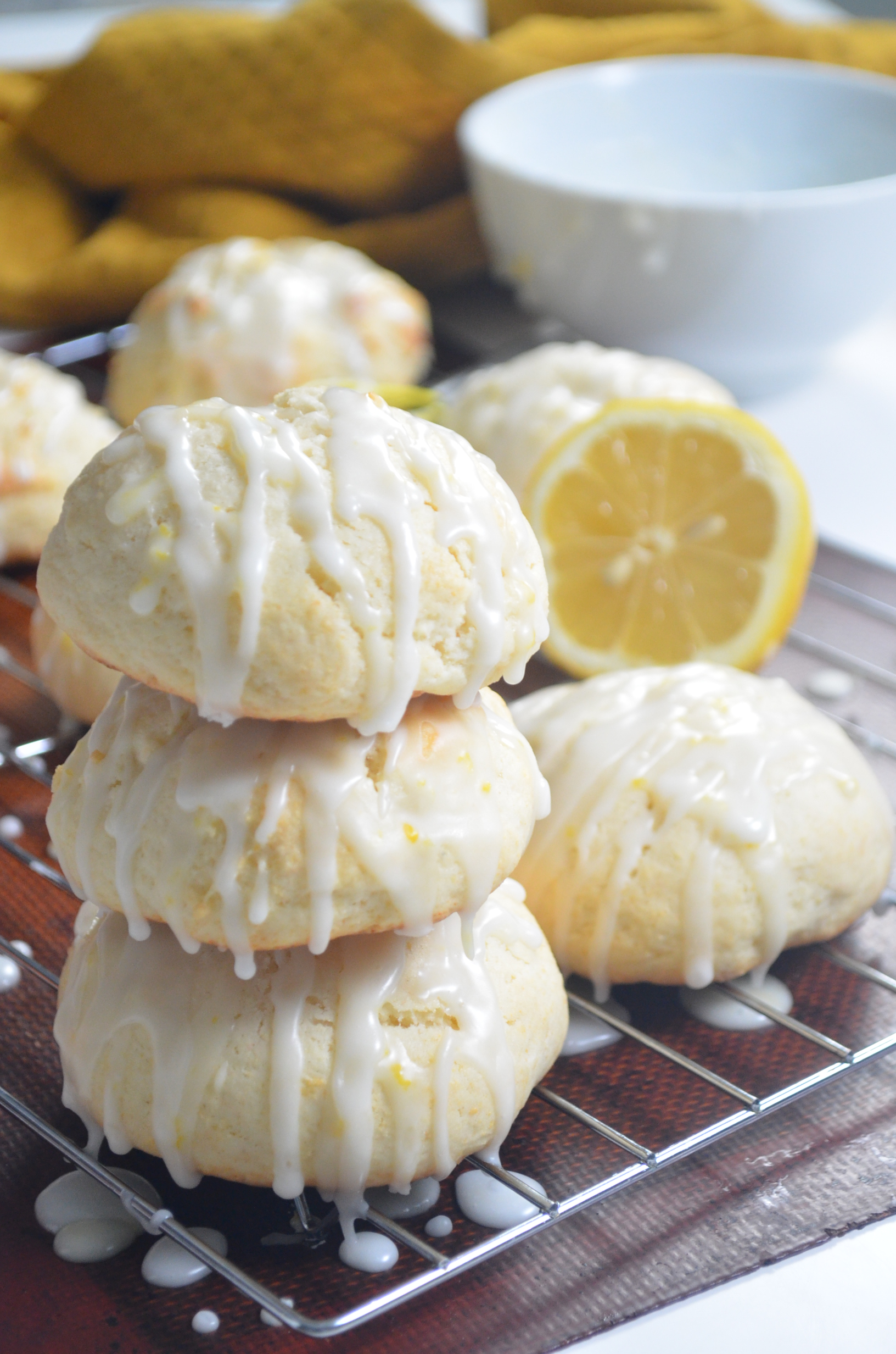 Lemon Ricotta Cheese Cookie with Lemon Sugar Glaze By SweetnSpicyLiving