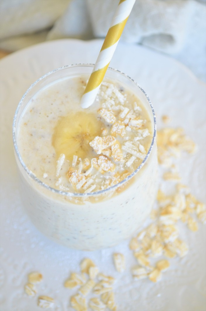 Overnight Banana Oatmeal Smoothie 2