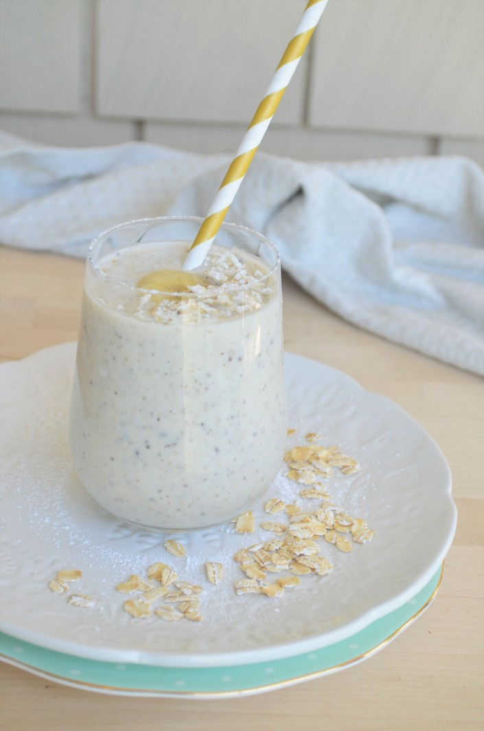Overnight Banana Oatmeal SMoothie For One