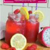 Raspberry and Dragon Fruit Lemonade2