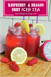 Raspberry and Dragon Fruit Lemonade 2
