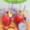 Raspberry and Dragon FruitLemonade