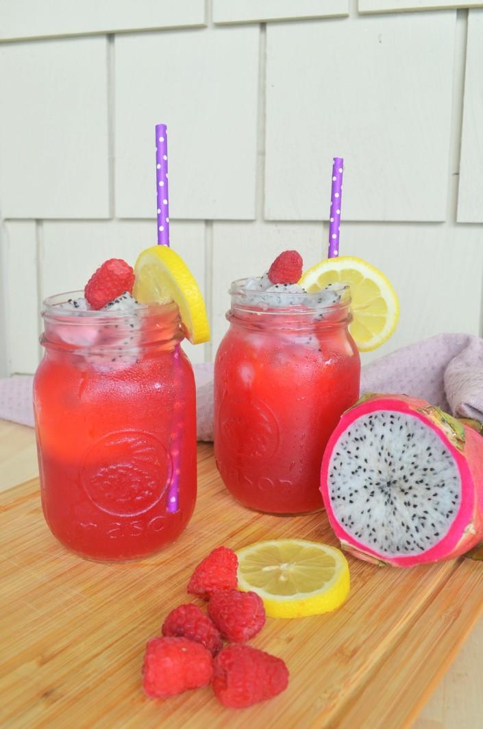 Raspberry Shaken Iced Tea For Two