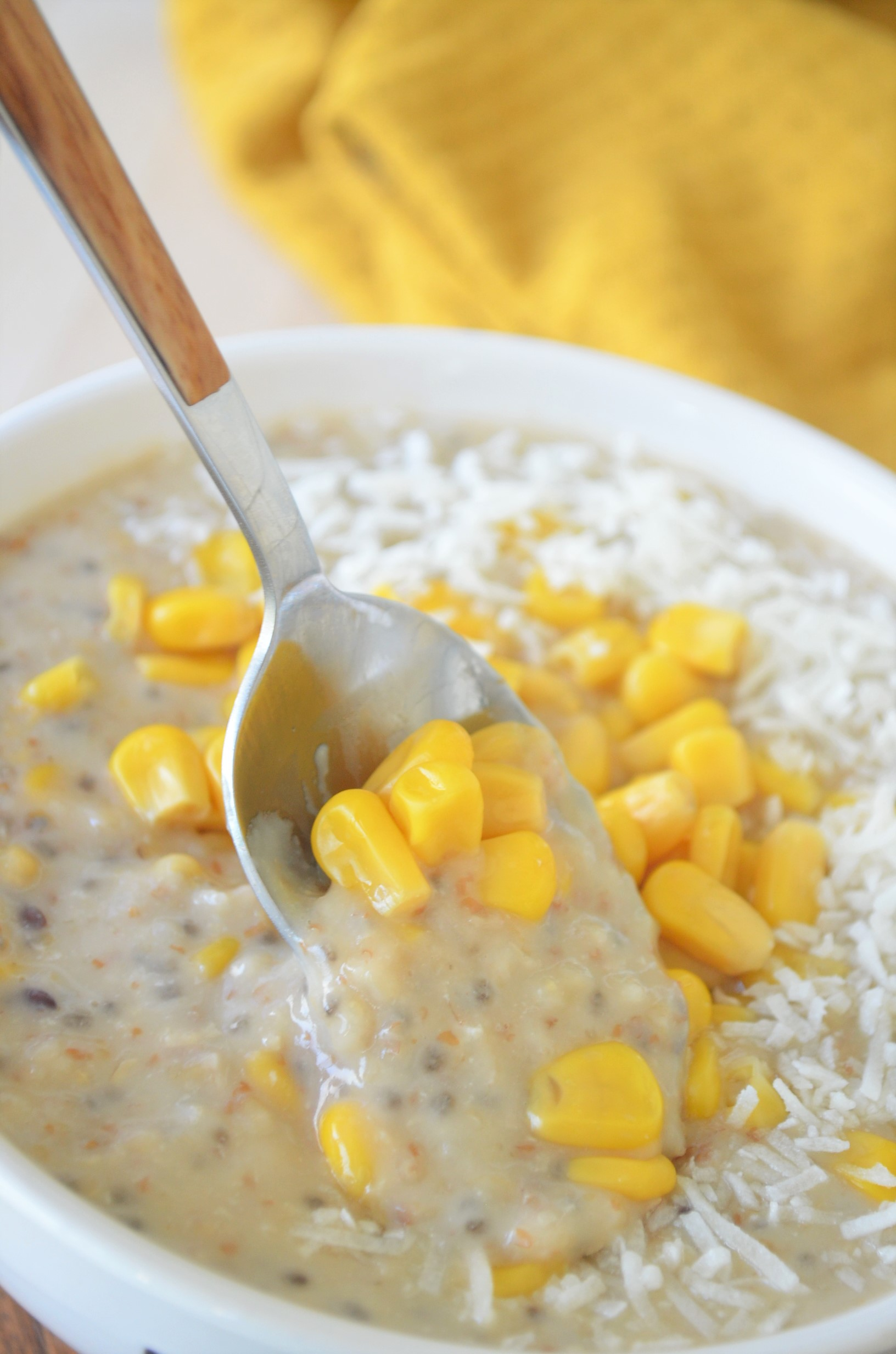 Single Serving Coconut and Sweet Corn Oatmeal