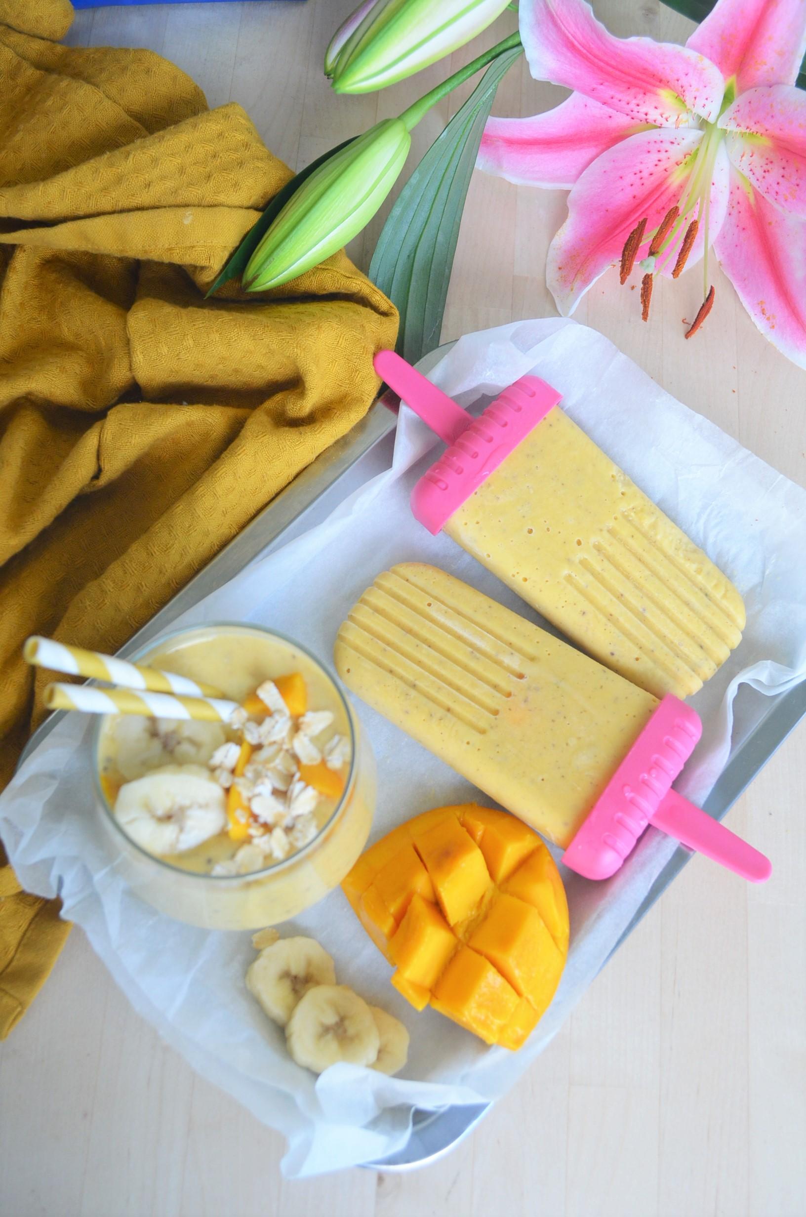 Small Batch Overnight Mango Oatmeal Popsicle