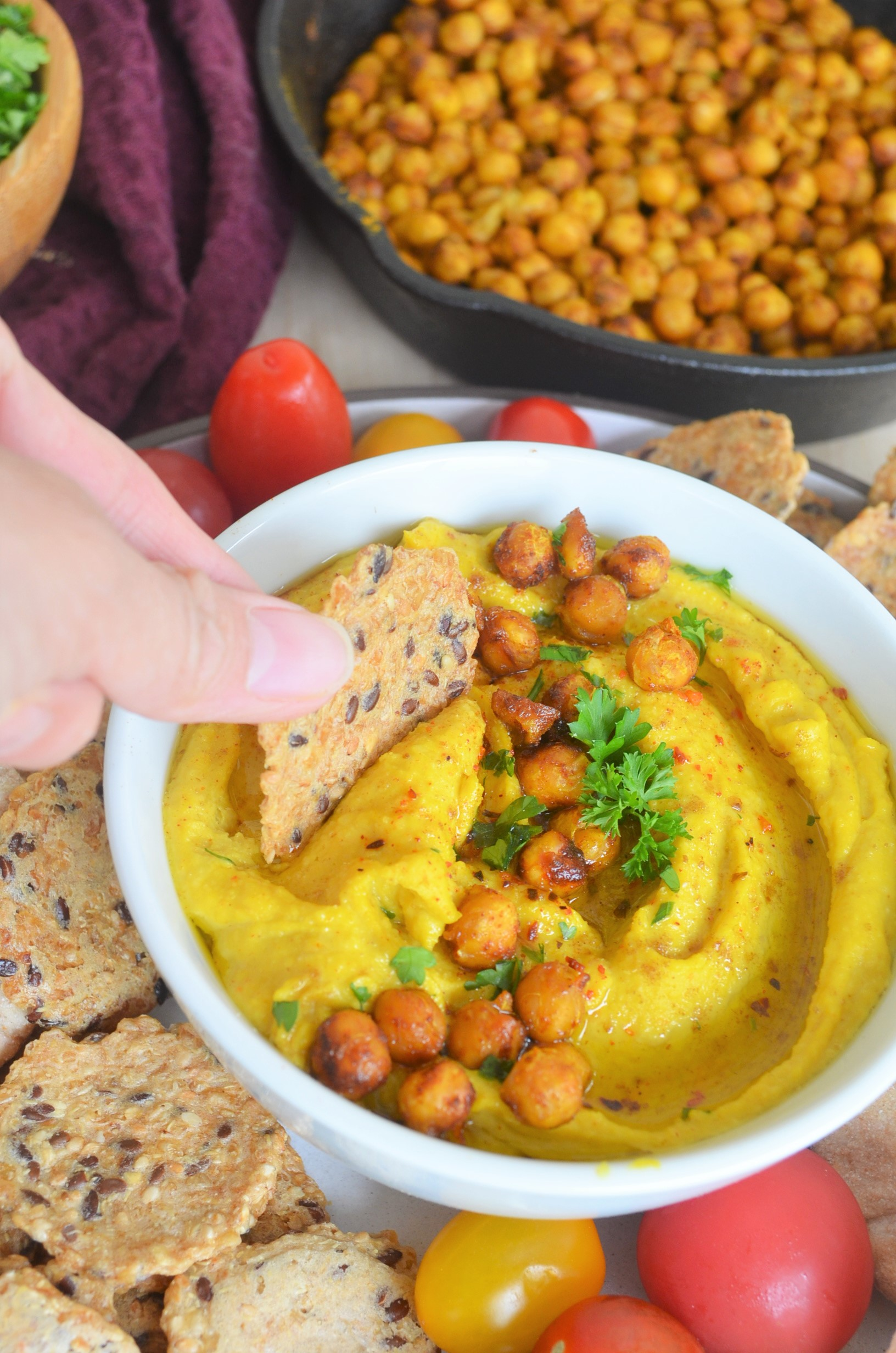 Small Batch Spiced Turmeric Hummus By SweetNSpicyLiving