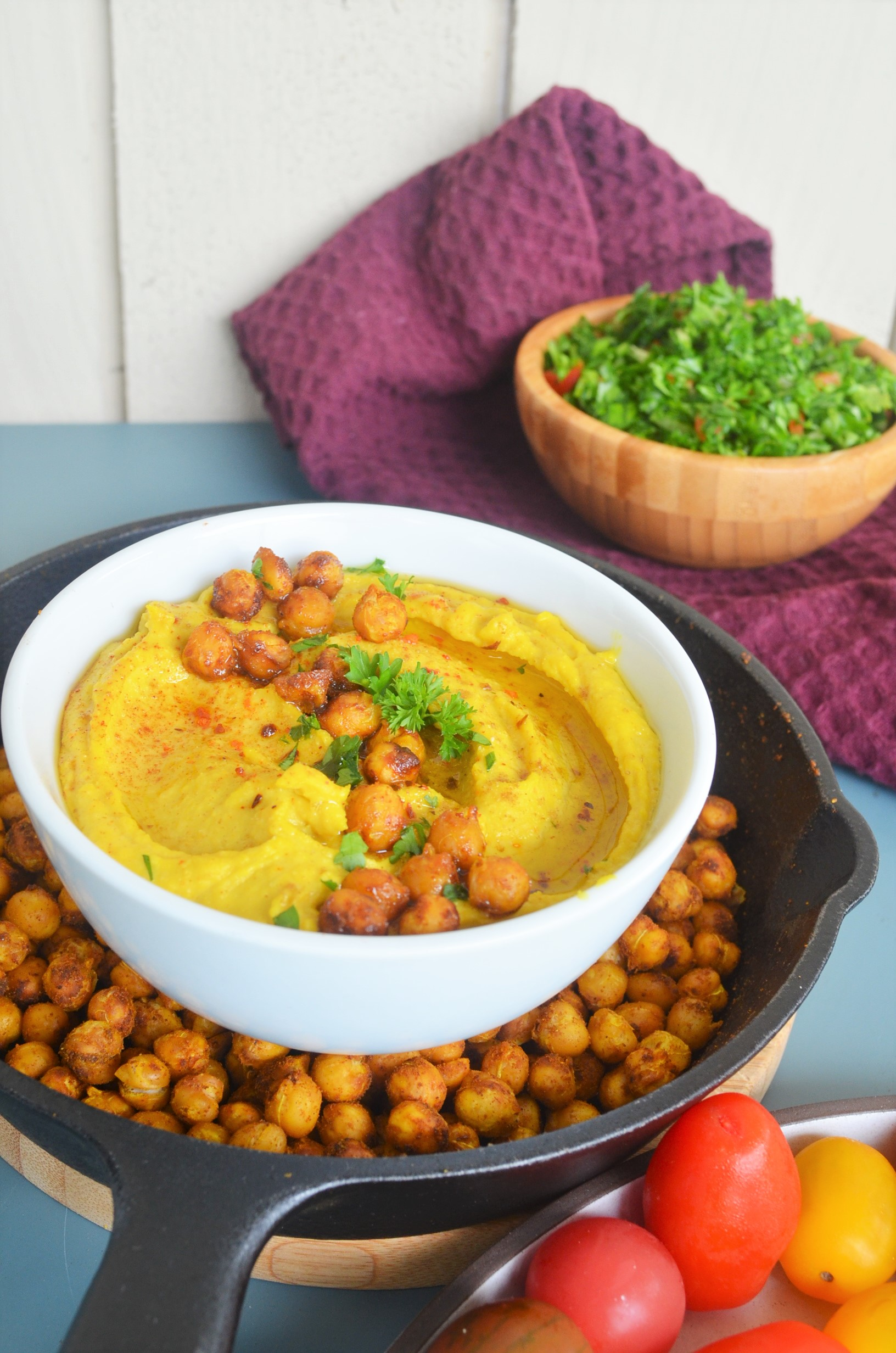 Small Batch Turmeric Hummus By SweetNSpicyLiving