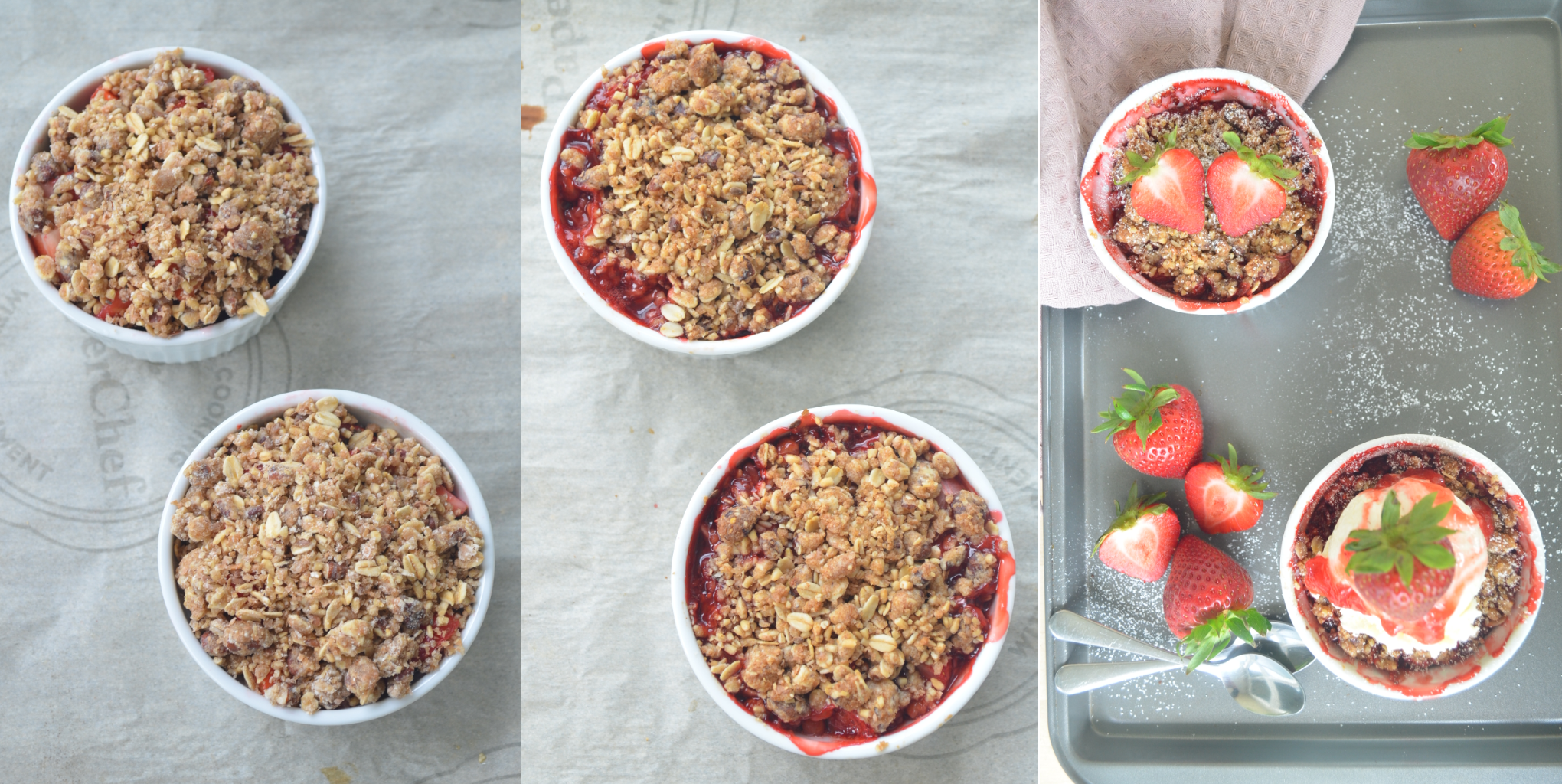 Strawberry Crisp Collage