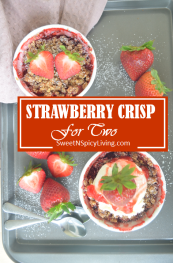 Strawberry Crisp For Two 2