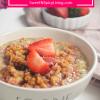 Strawberry Crisp Oatmeal