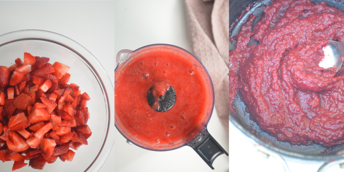 Strawberry Paste Collage