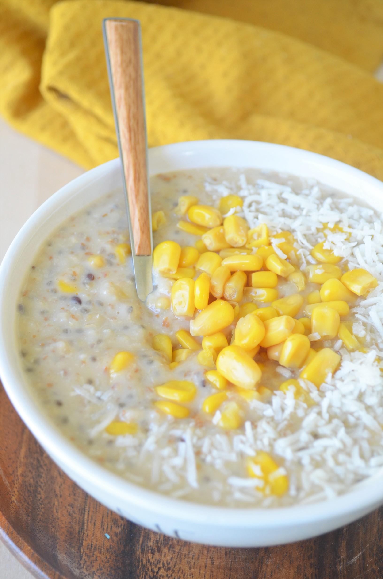 Sweet Corn Oatmeal For One