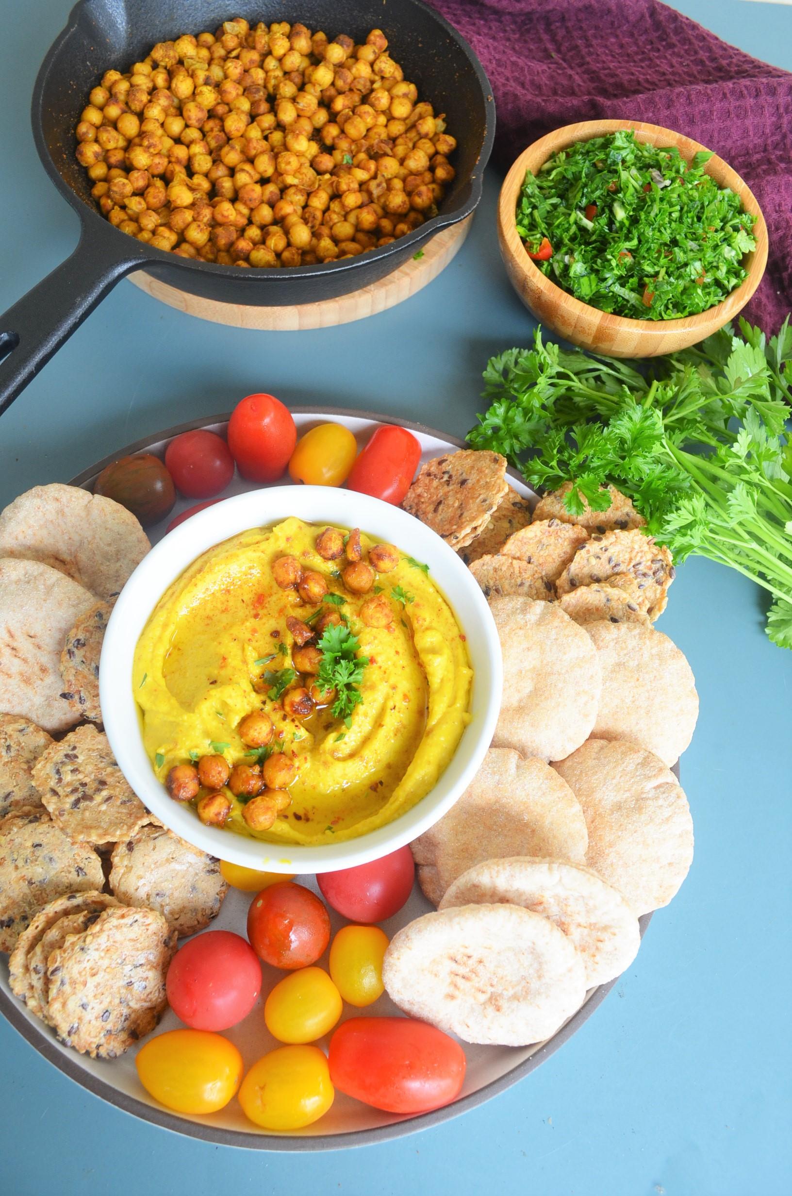 Turmeric Hummus By SweetnSpicyLiving