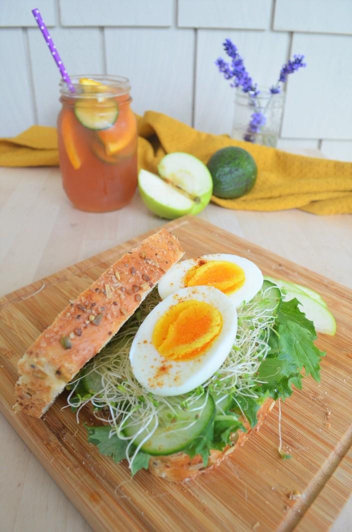 Avocado and Egg Green Goddess Sandwich