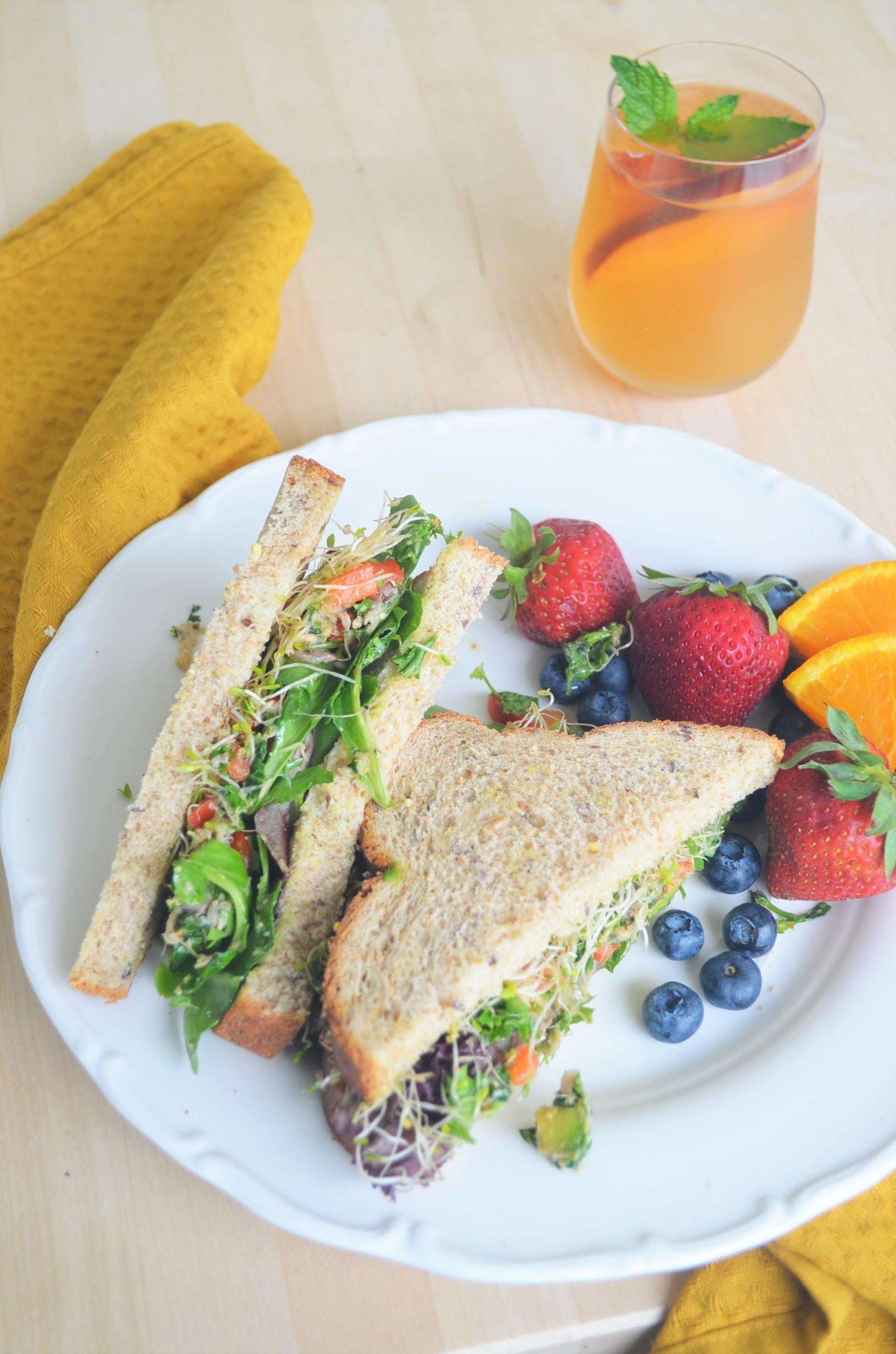 Avocado and Tuna Breakfast Sandwich