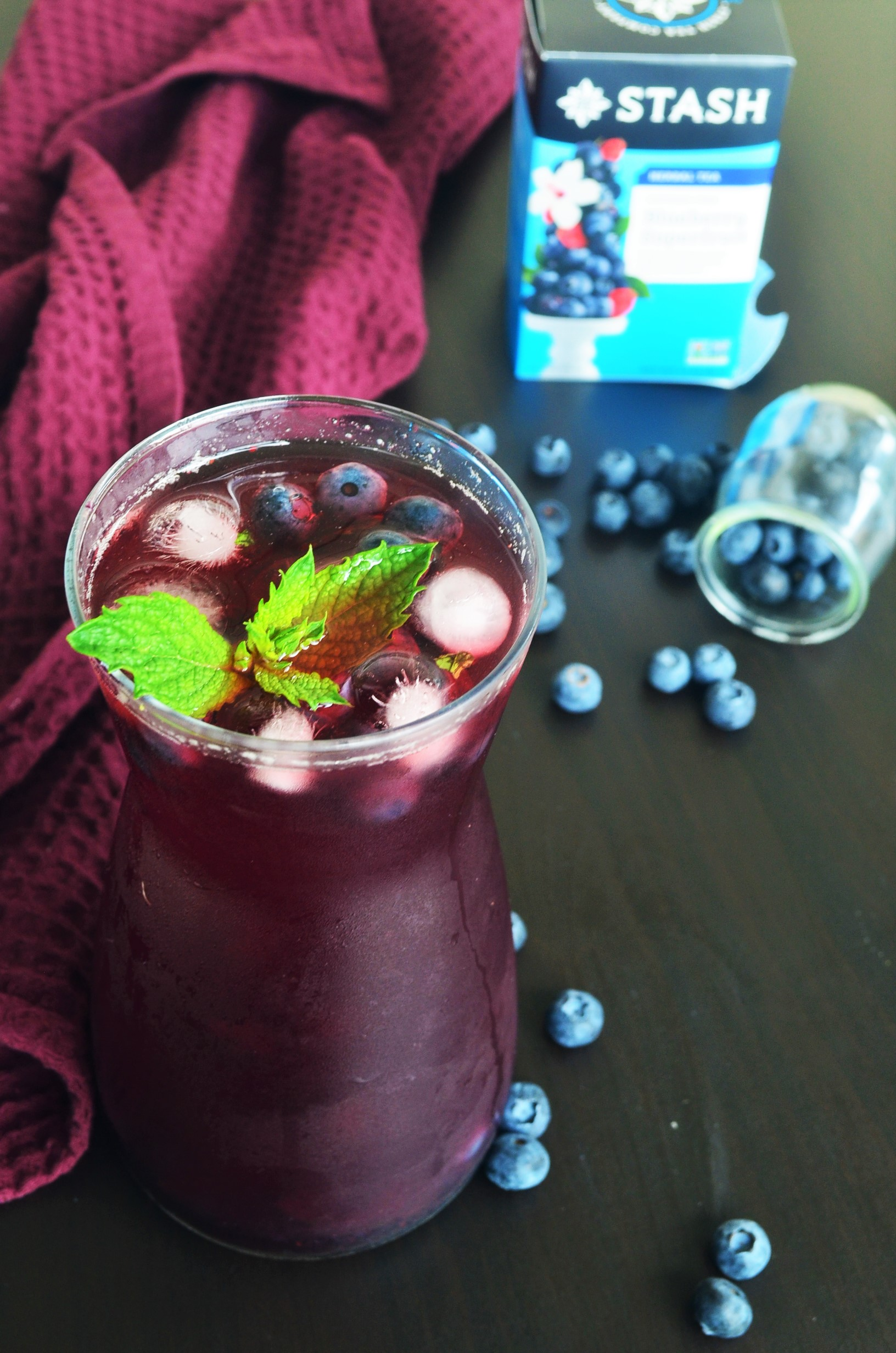 Blueberry Cold Brew Iced Tea