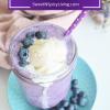Blueberry Ice CreamFloat