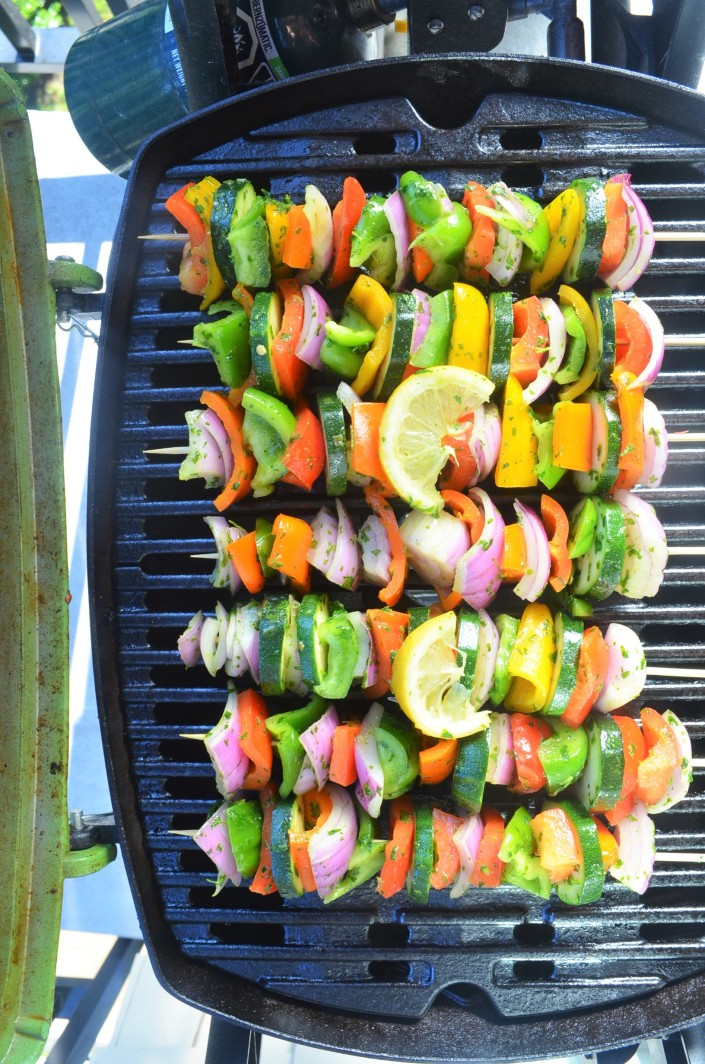 Chimichurri Vegetable Kebabs By SweetNSpicyLiving