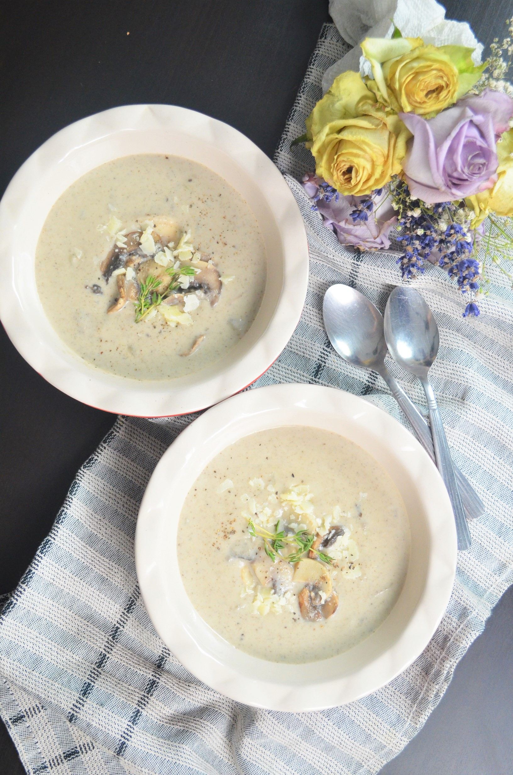 Cream of Mushroom Soup For Two