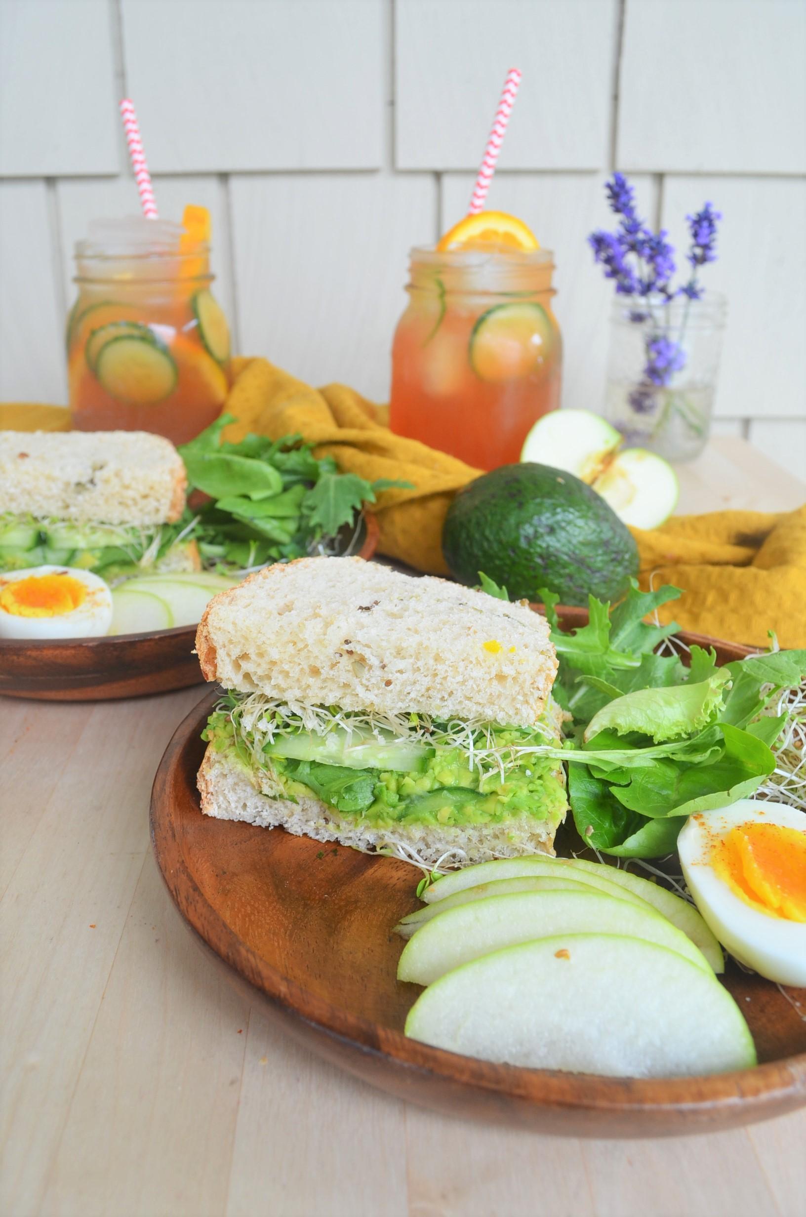 Green Goddess Vegetable Sandwich