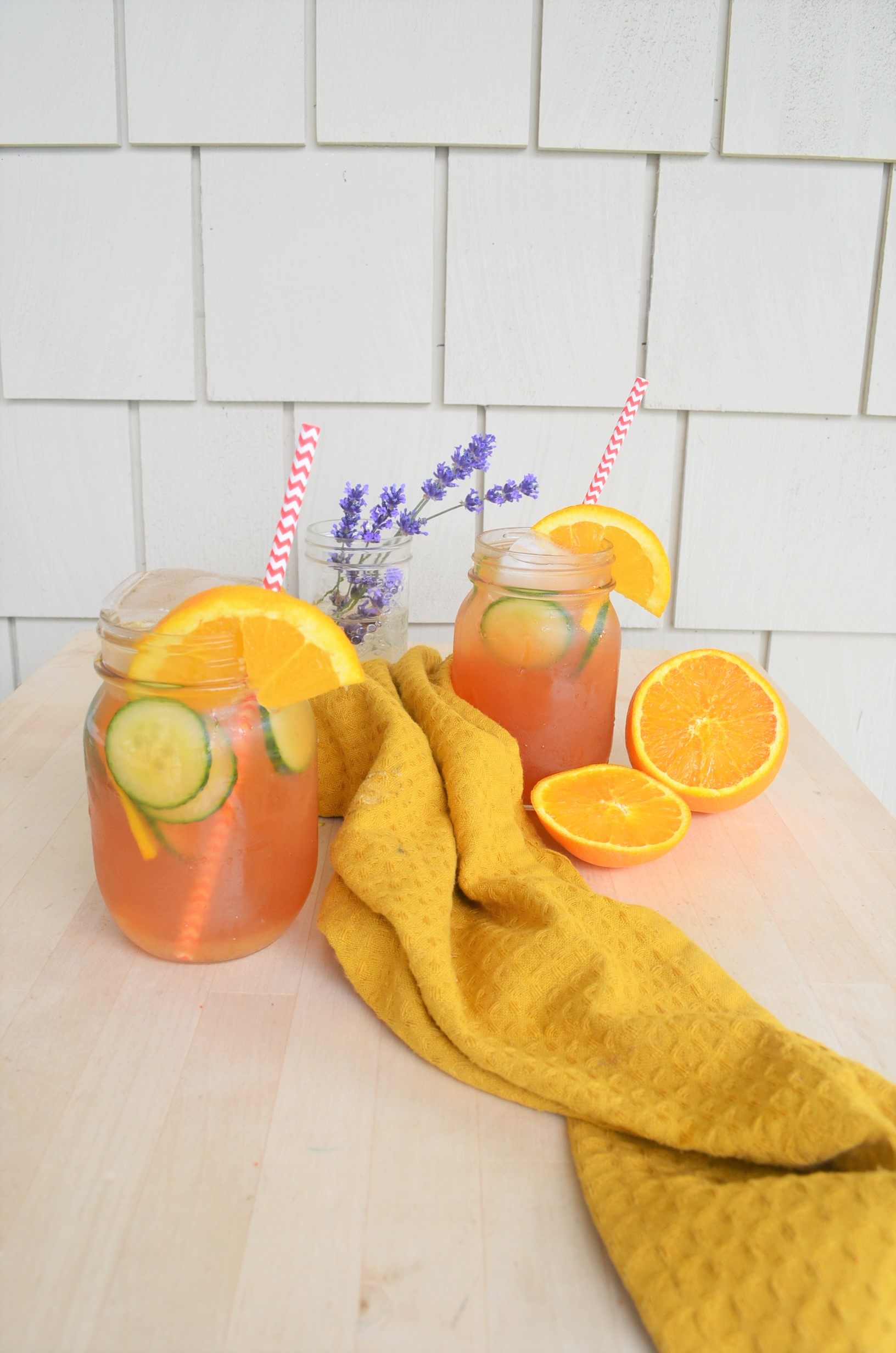 Homemade Orange Iced Tea