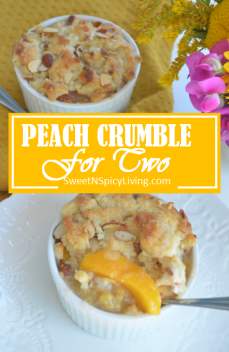 Peach Crumble For Two