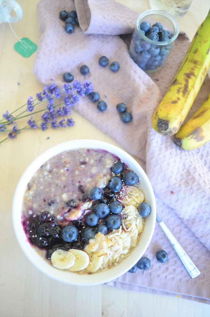 Singel Serving Blueberry Banana Oatmeal By SweetNSpicyliving