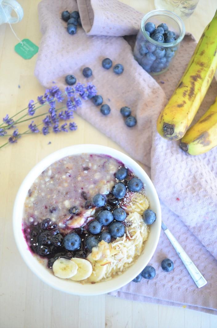 Singel Serving Blueberry Banana Oatmeal By SweetNSpicyliving