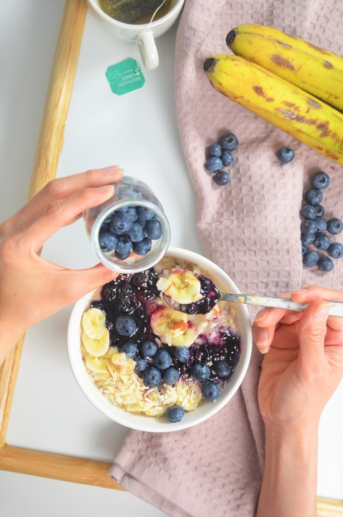 Singel Serving Blueberry Banana Oatmeal