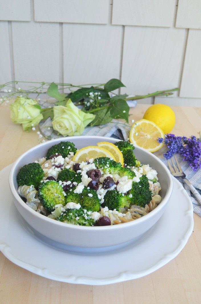 Small Batch Broccoli Feta Pasta Salad