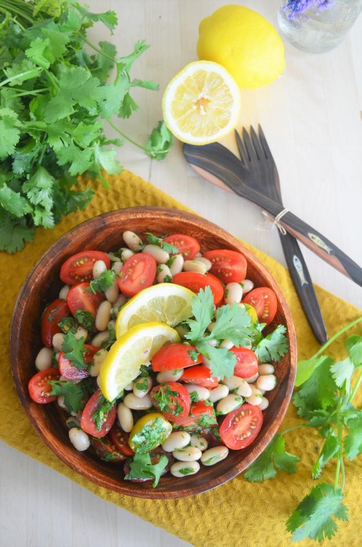 Tuscan White Bean Tomato Salad