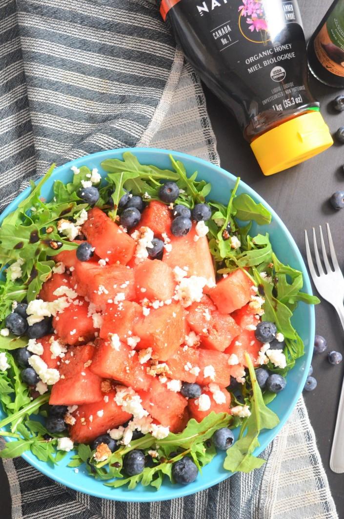 Watermelon Aragula Feta Salad