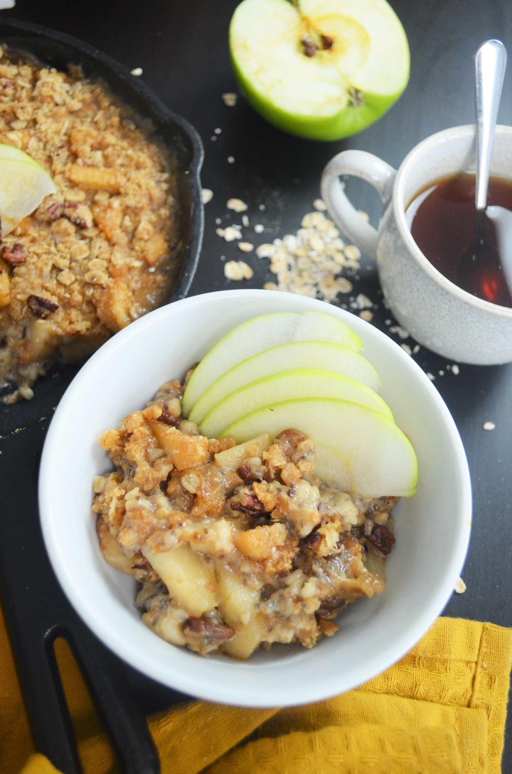 Baked Apple Cinnamon Oatmeal For Two