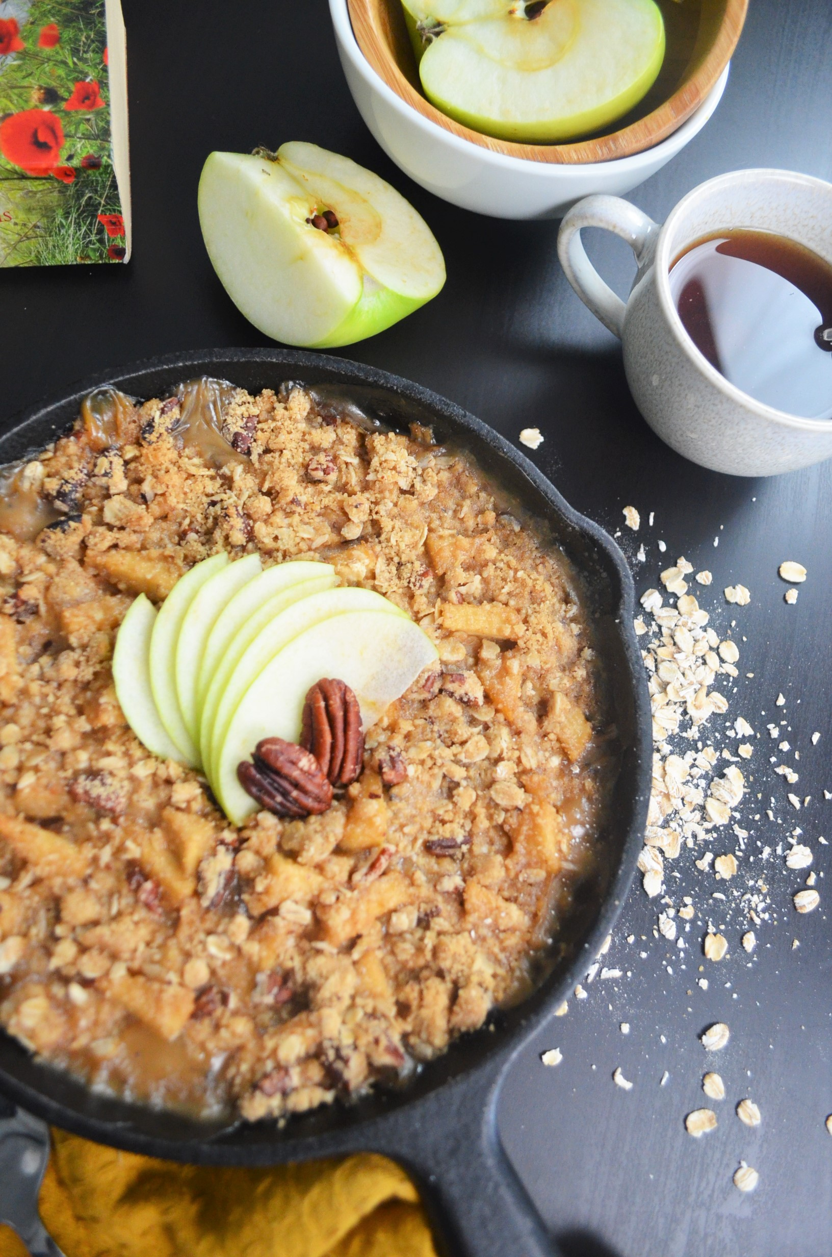 Baked Apple Oatmeal for Two