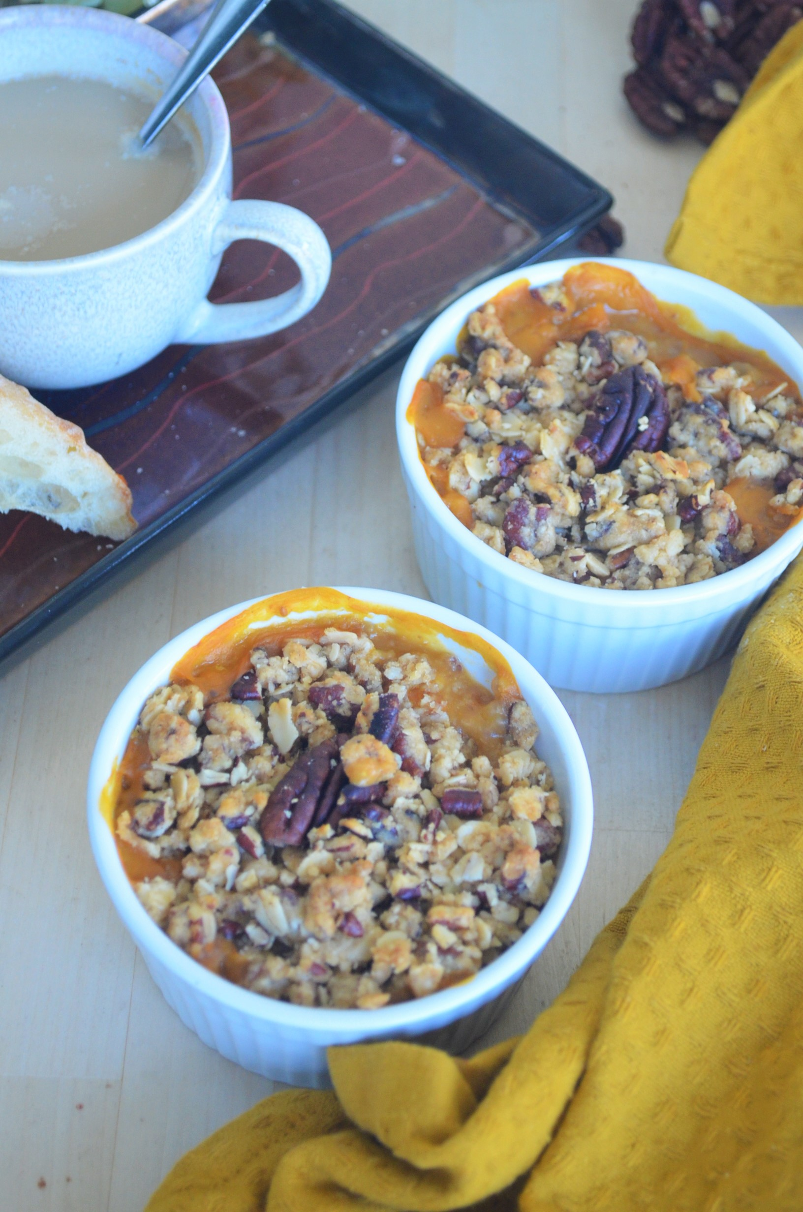 Baked Pumpkin Pie Oatmeal For Two