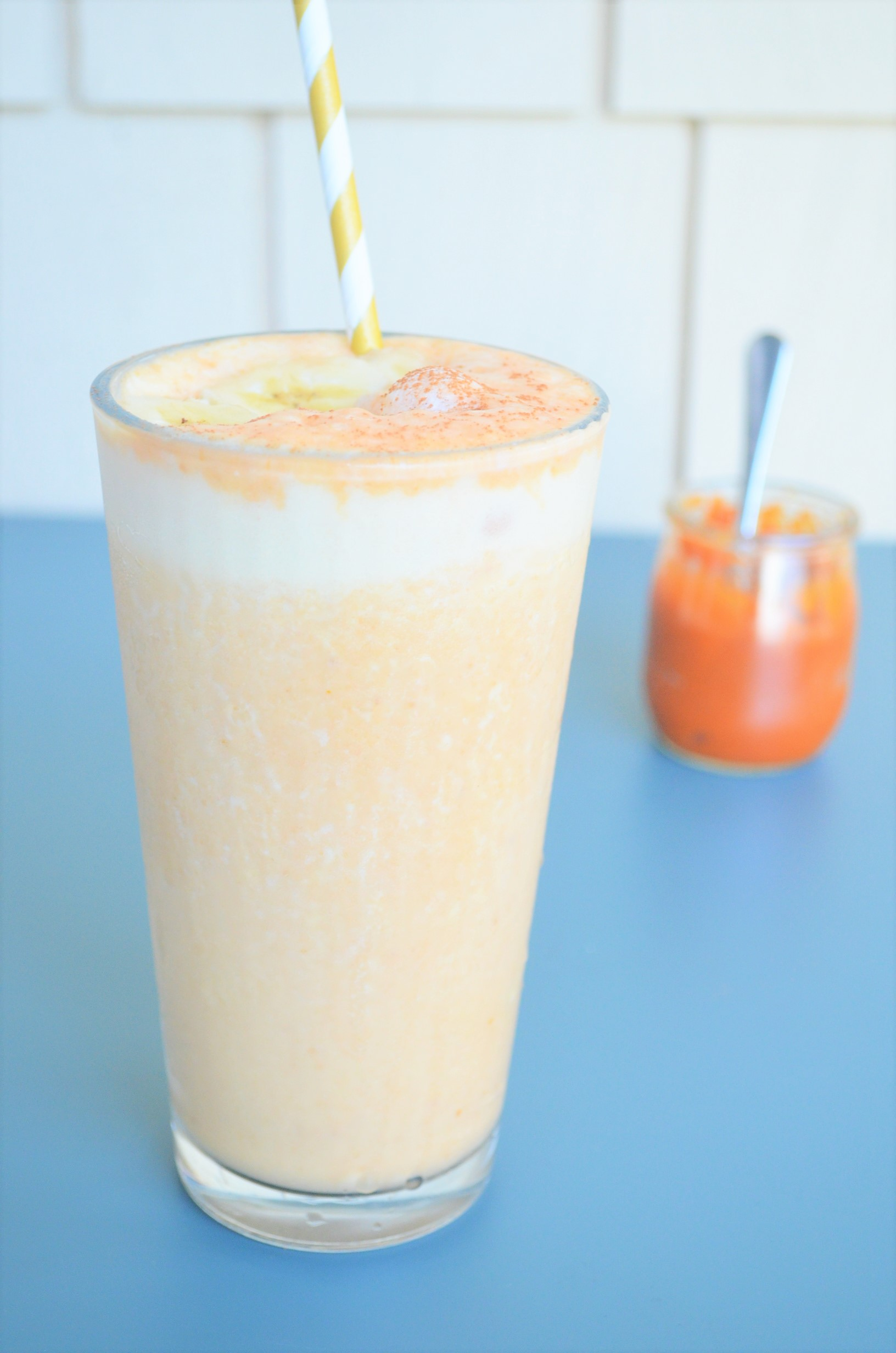 Banana Pumpkin Pie Yogurt Smoothie