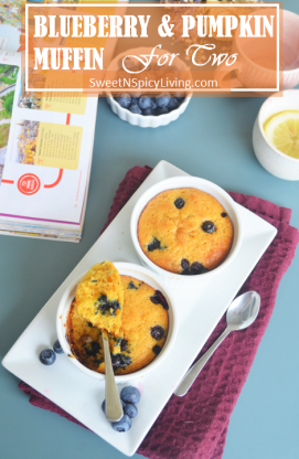 Blueberry and Pumpkin Muffin For Two 4