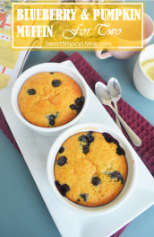 Blueberry and Pumpkin Muffin For Two