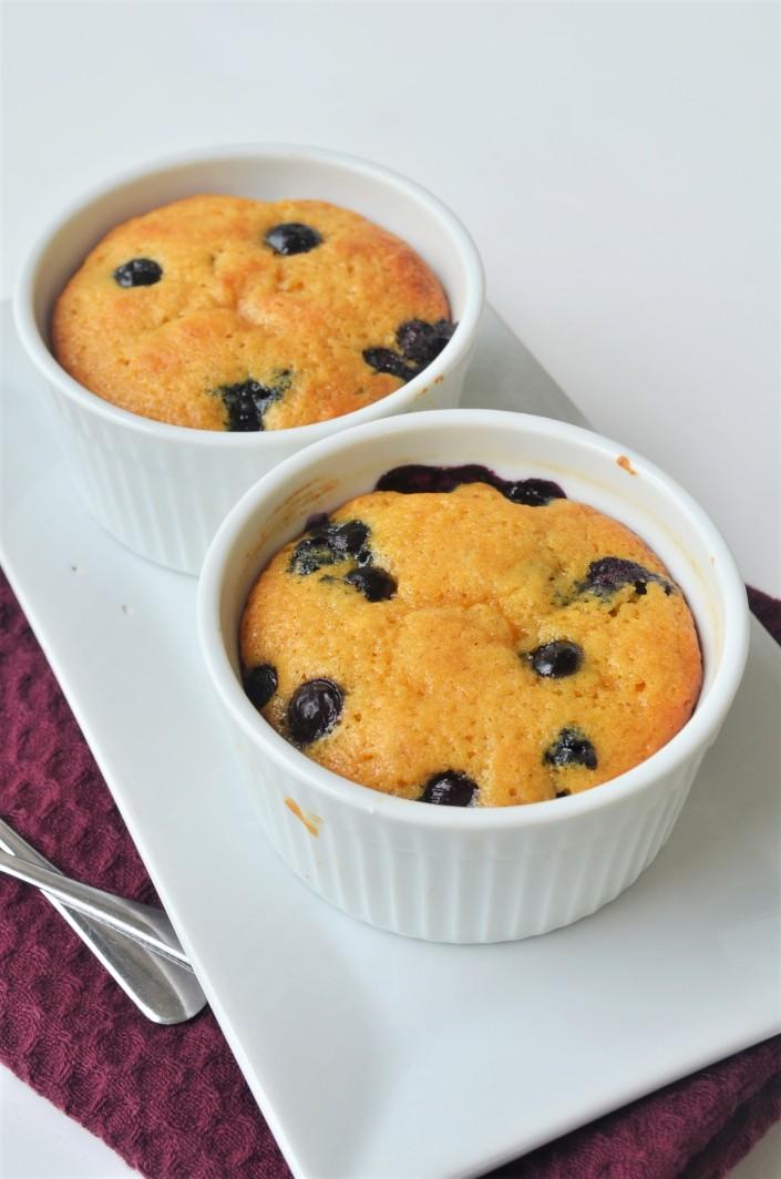 Blueberry Pumpkin Muffin in Ramekin