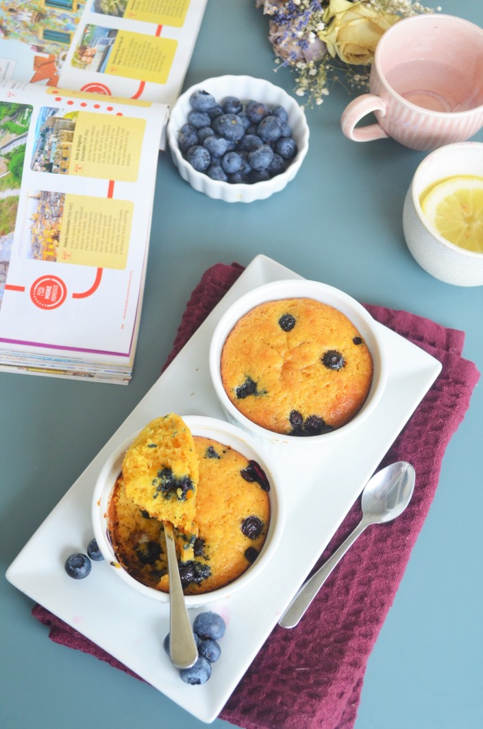 Blueberry Pumpkin Pie Muffin in Ramekin