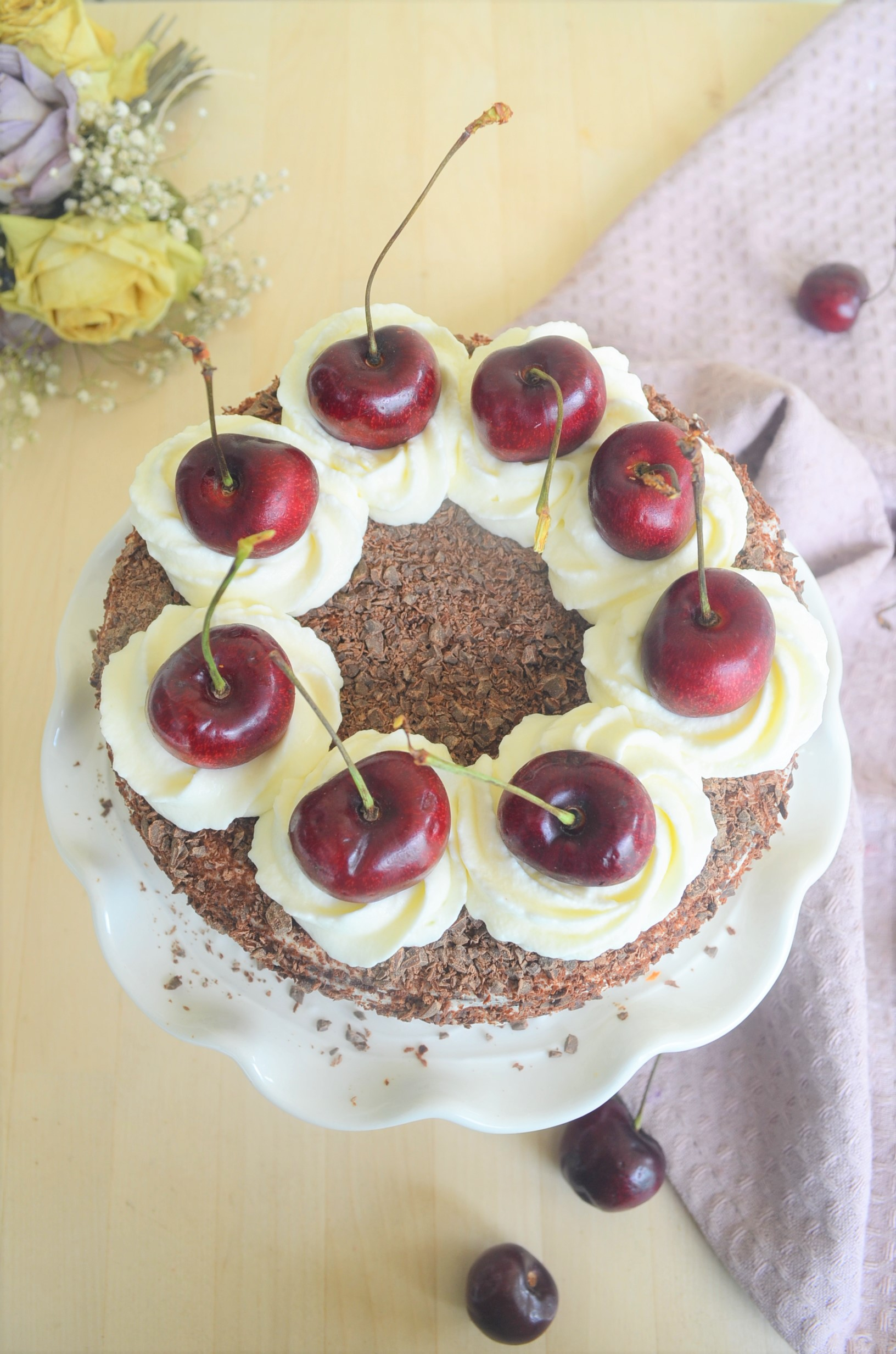 Gluten Free Almond Black Forest Cake