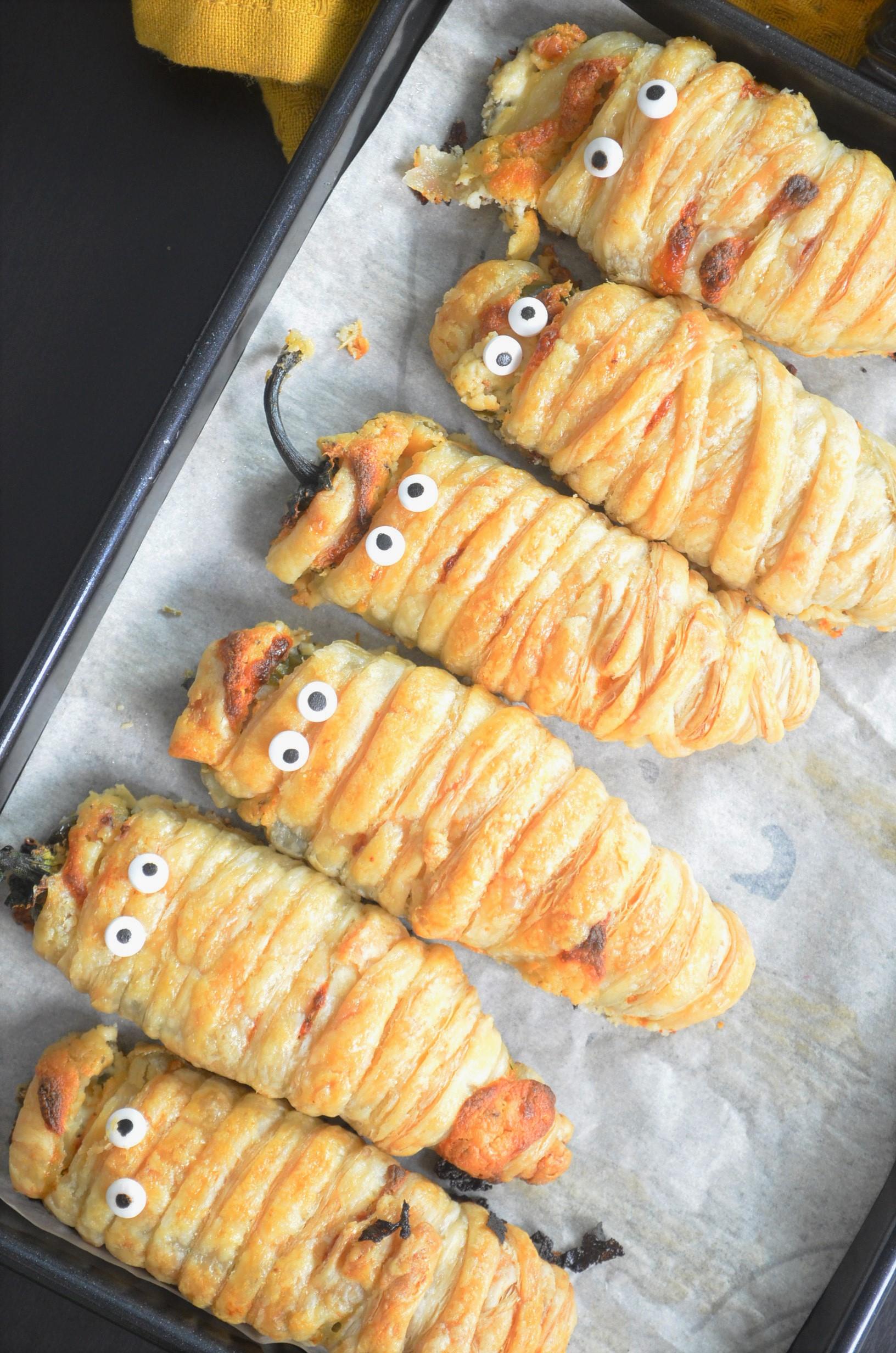 Halloween Jalapeno Mummy Appetizer