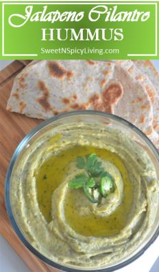 Jalapeno Cilnatro Hummus