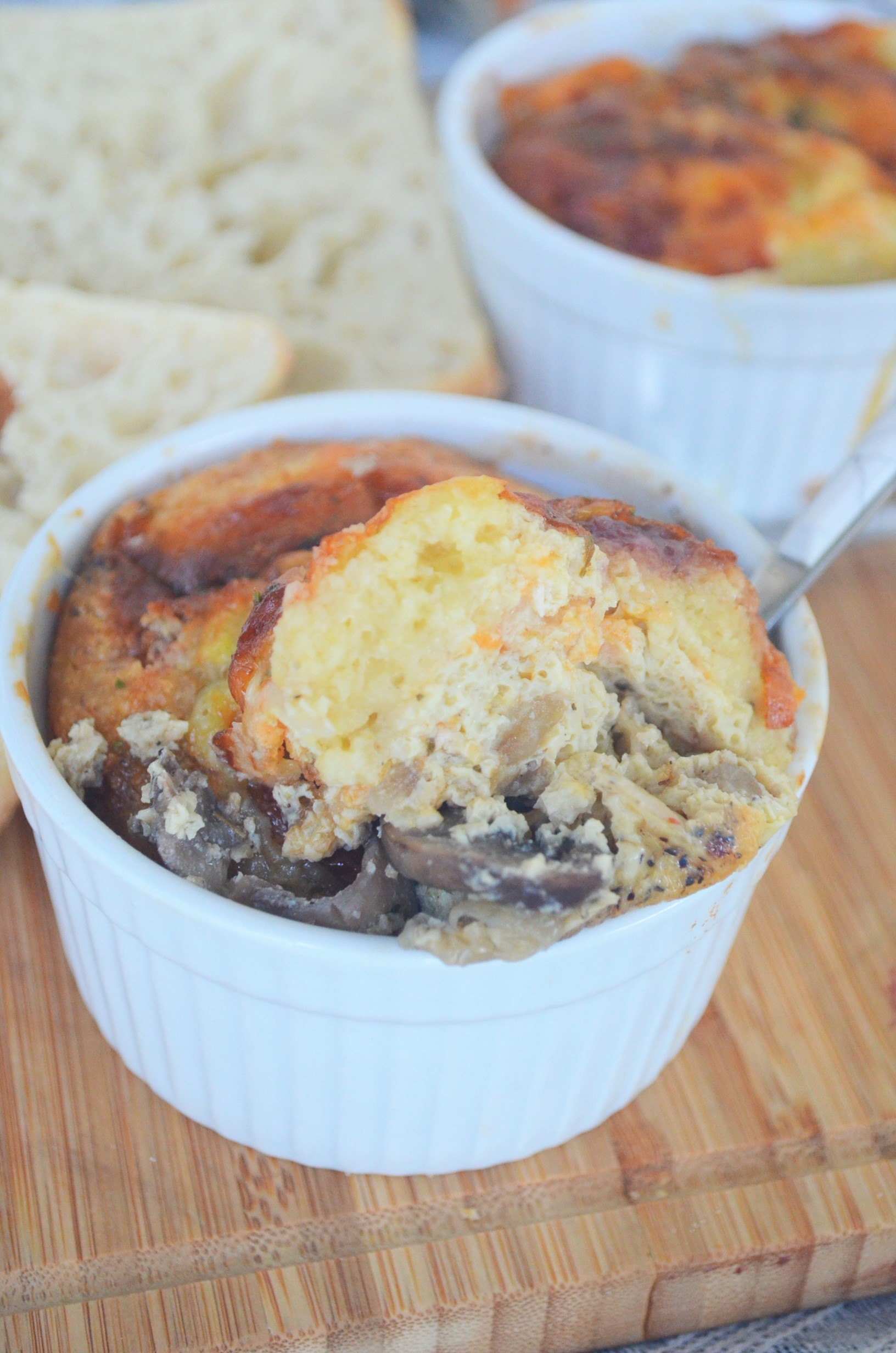 Mushroom Egg Bake for Two