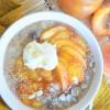 One Serving PeachOatmeal